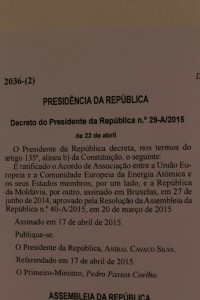 Portugalia ratificare