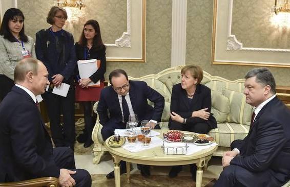 Putin Holland Merkel Porosenko