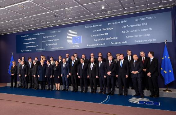 Fotografia de familie a Reuniunii Consiliului European Informal, desfasurata la Bruxelles, Regatul Belgiei.