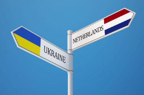 Ukraine Netherlands High Resolution Sign Flags Concept