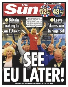 The Sun/ Frontpage/ Brexit