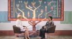 Ms. Phumzile Mlambo-Ngcuka gives an interview to the national TV station. Chisinau, Republic of Moldova.