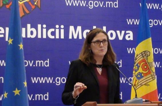 Cecilia Malmstrom la Chisinau