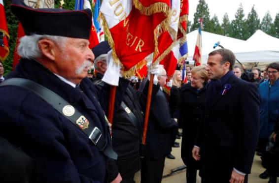 macron-merkel Paris de Ziua Armistițiului