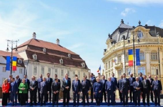 Sibiu lideri UE
